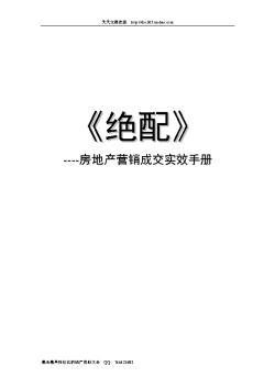 《房地产营销成交<em>实效</em>手册》65页